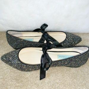 Betsey Johnson Black Multicolor Shoes Size 7.5